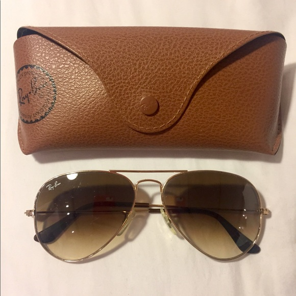 Ray-Ban Accessories   Rayban Aviators Gold Frame Brown Fade Lense ... f77ca95e4816